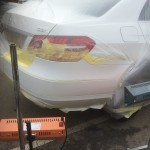 mercedes rear bumper paint curing