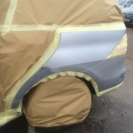 car masked up ready for paint