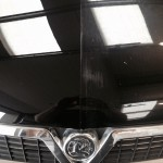 vauxhall bonnet stone chip repairs carried out on one side of the bonnet