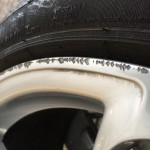 Audi Q7 kerbing on Alloy