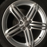 Audi Q7 repaired alloy wheel in Peterborough