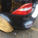 Mercedes ML damage repaired and primed