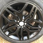 Satin black Range Rover alloys